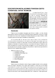DESCRIPCION INSTALACIONES TRAVESIA CUETO-COVENTOSA